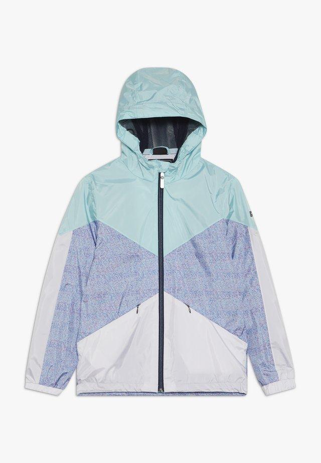 MAELEE - Regenjacke / wasserabweisende Jacke - turquoise/grey/white
