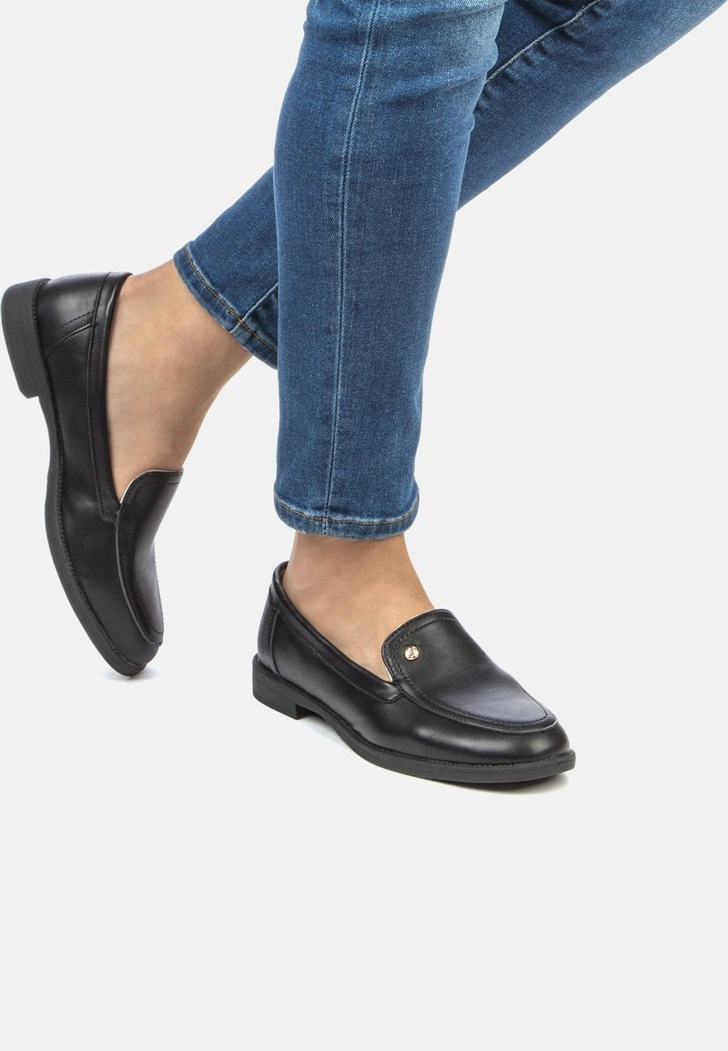 Keddo - Loaferit/pistokkaat - black