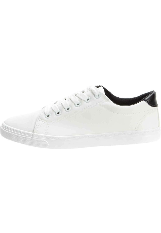 SNEAKER - Sneakers laag - weiß/schwarz