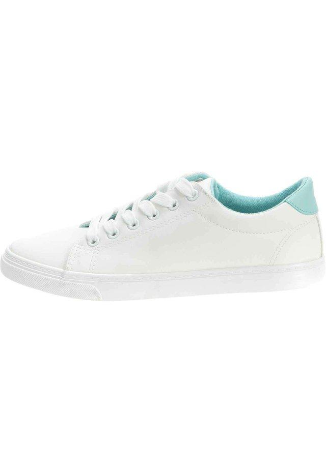 SNEAKER - Sneakers laag - weiß/mint