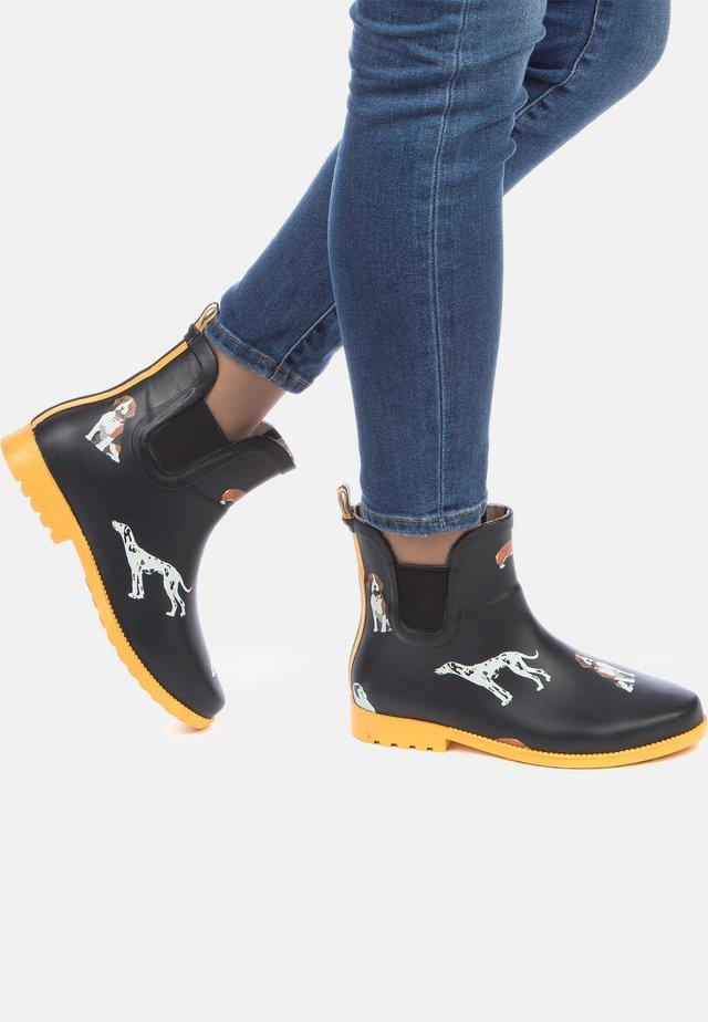 Laarzen - schwarz/orange