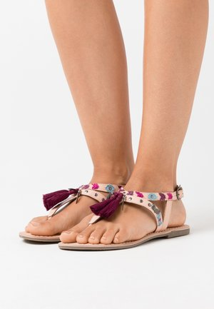 NAYA - T-bar sandals - nude