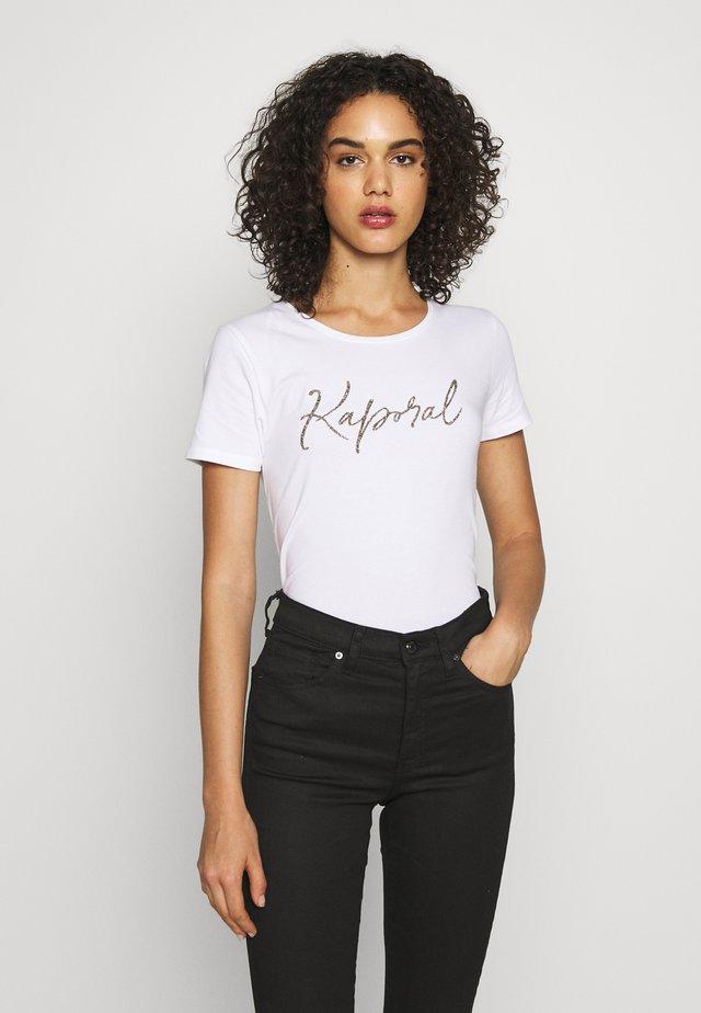 RAXI - T-shirt imprimé - white