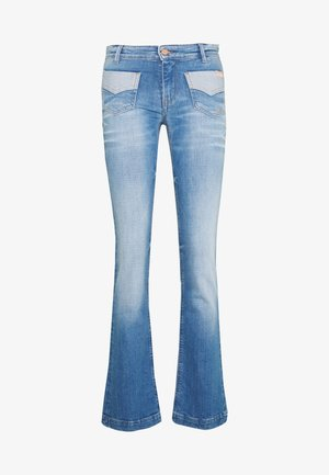 FAVOR - Bootcut jeans - blue denim