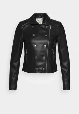 LOW - Kožená bunda - black