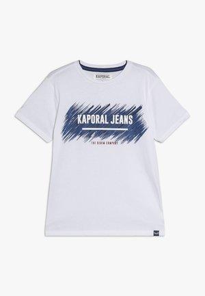 EDMUNE - T-shirt imprimé - white