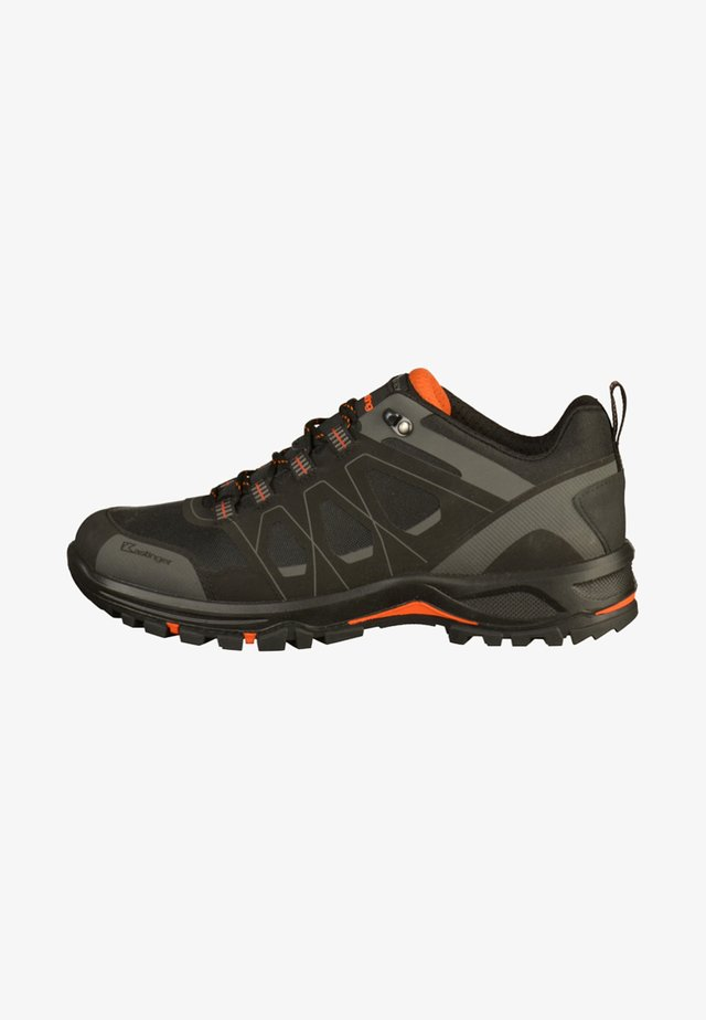 Casual lace-ups - black/orange