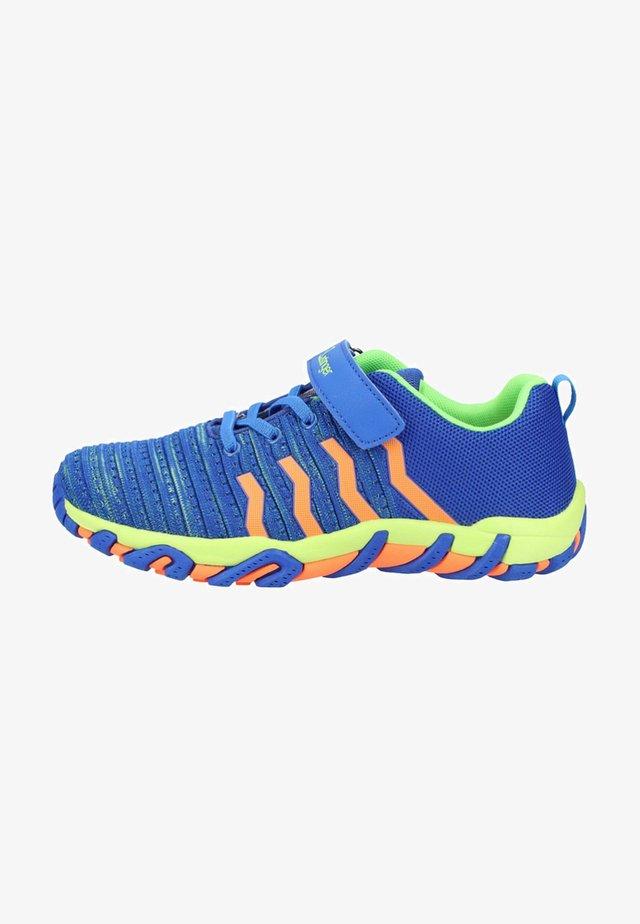 Sneakers - royal blue/lime/orange