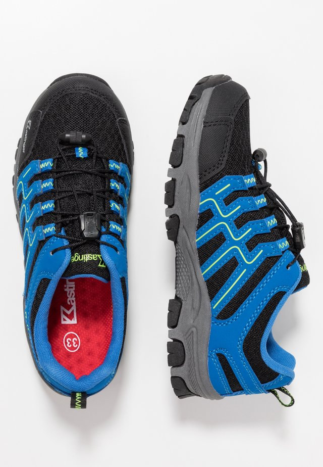 FARRER - Hiking shoes - black/blue