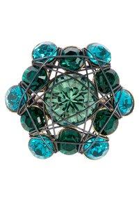 Konplott - BENDED LIGHTS - Ringe - blau/grün/antikmessingfarben - 4