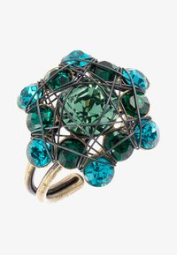 Konplott - BENDED LIGHTS - Ringe - blau/grün/antikmessingfarben - 1