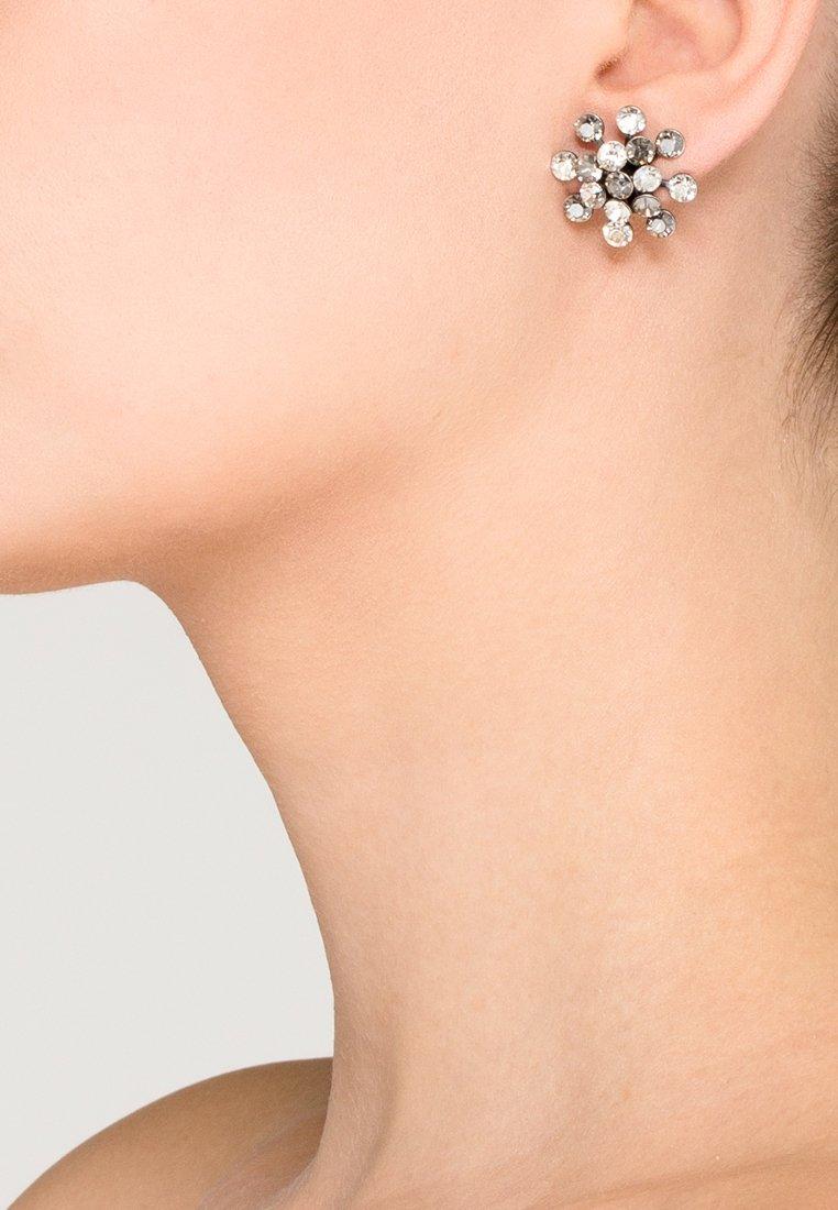 Konplott - MAGIC FIREBALL - Boucles d'oreilles - weiß/antiksilberfarben