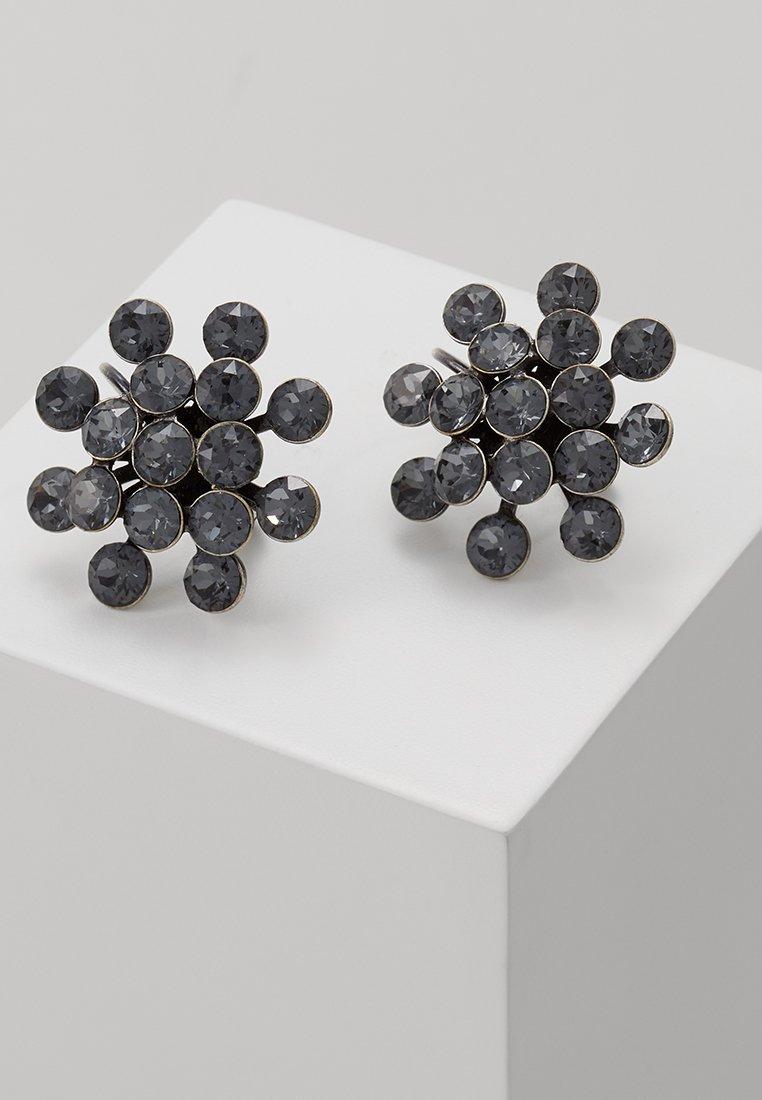 Konplott - MAGIC FIREBALL - Earrings - grey crystal