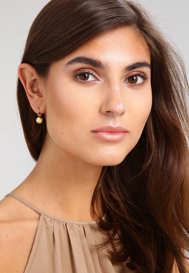 Konplott - BALLROOM - Earrings - brown/yellow