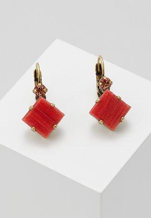 CLEO - Earrings - beige/red