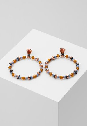 BEAT OF THE BEADS - Korvakorut - blue/brown