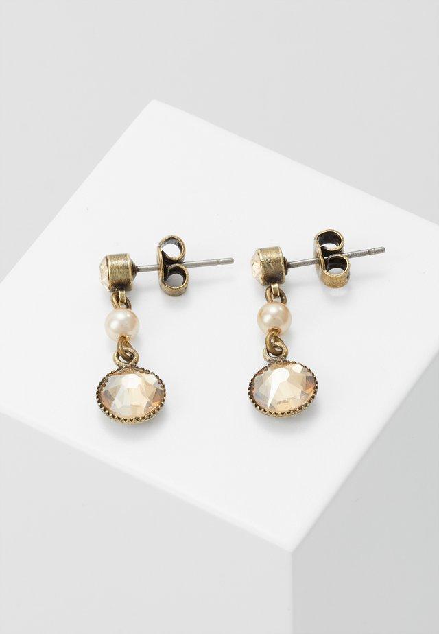 PEARL SHADOW - Earrings - brown