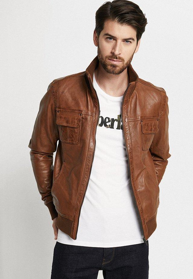 DANY - Leather jacket - cognac