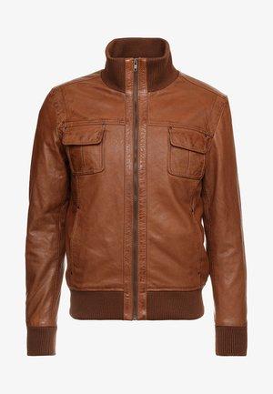 DANY - Kožená bunda - cognac