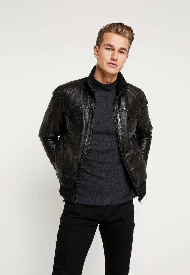 DANY - Giacca di pelle - black