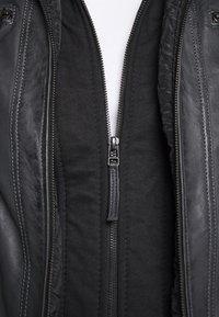 Serge Pariente - ERIC HOOD - Leren jas - black - 7