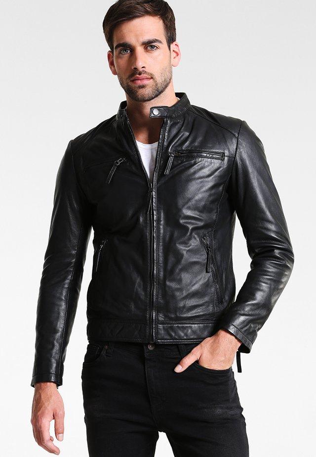 TONIC - Leather jacket - black