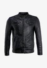 TONIC - Veste en cuir - black