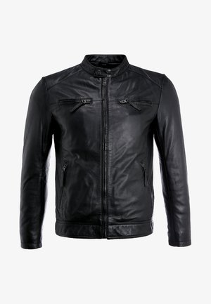 TONIC - Kožená bunda - black