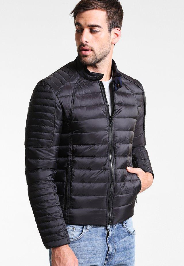 LEMAN DOUDOUNE REVERSIBLE - Down jacket - black  blue
