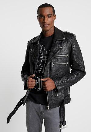 BIANCO - Leather jacket - black