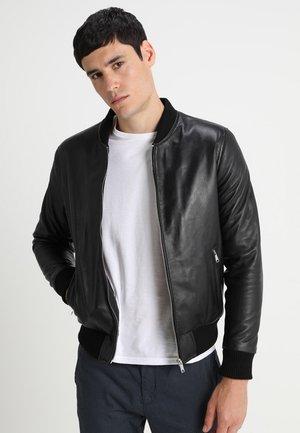 BONBON - Kožená bunda - black