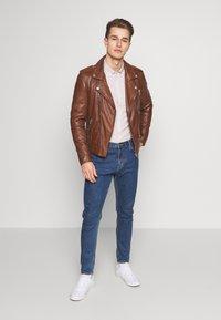 Serge Pariente - ROCKY - Leather jacket - cognac - 1