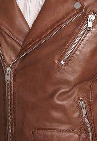 Serge Pariente - ROCKY - Leather jacket - cognac - 4