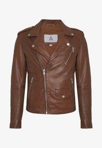 Serge Pariente - ROCKY - Leather jacket - cognac - 3