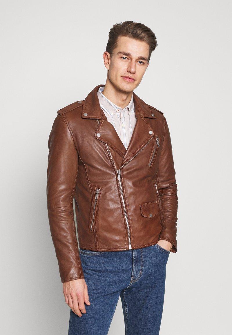 Serge Pariente - ROCKY - Leather jacket - cognac
