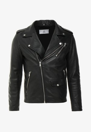 ROCKY - Leather jacket - black