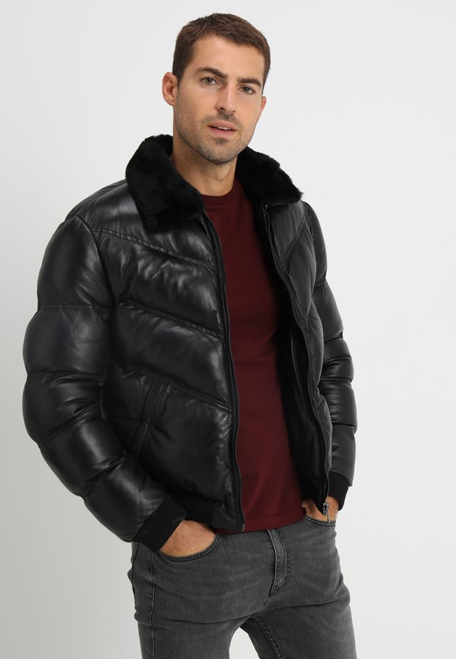 STORM - Leather jacket - black