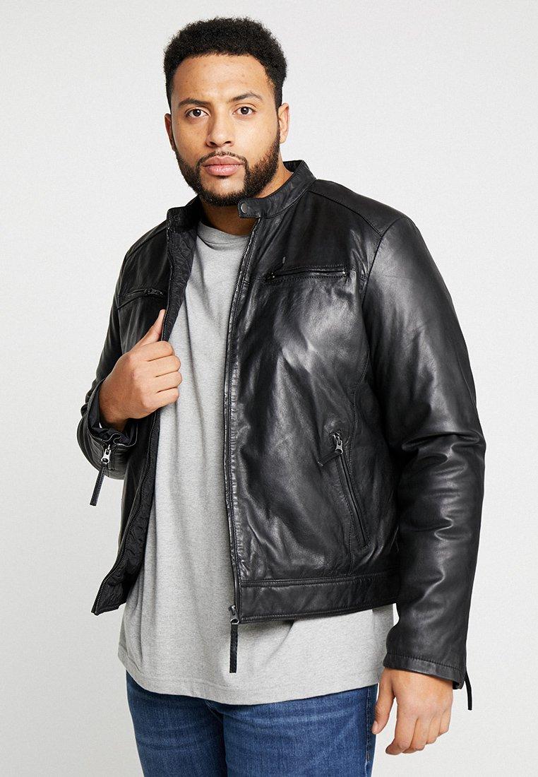 Serge Pariente - TONIC BIG - Leather jacket - black