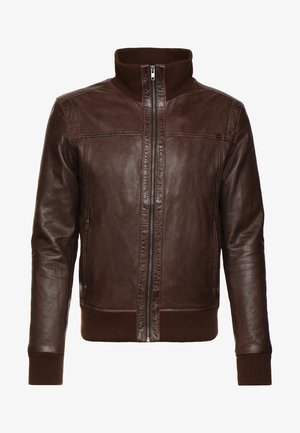 SOUL - Leather jacket - mocca