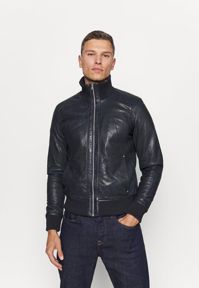 SOUL - Leather jacket - blue