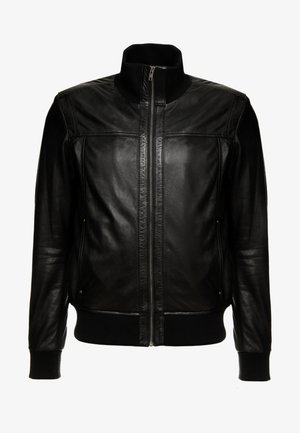 SOUL - Leather jacket - black