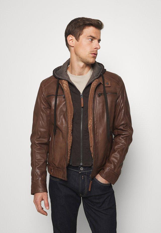 NILS  - Leather jacket - cognac