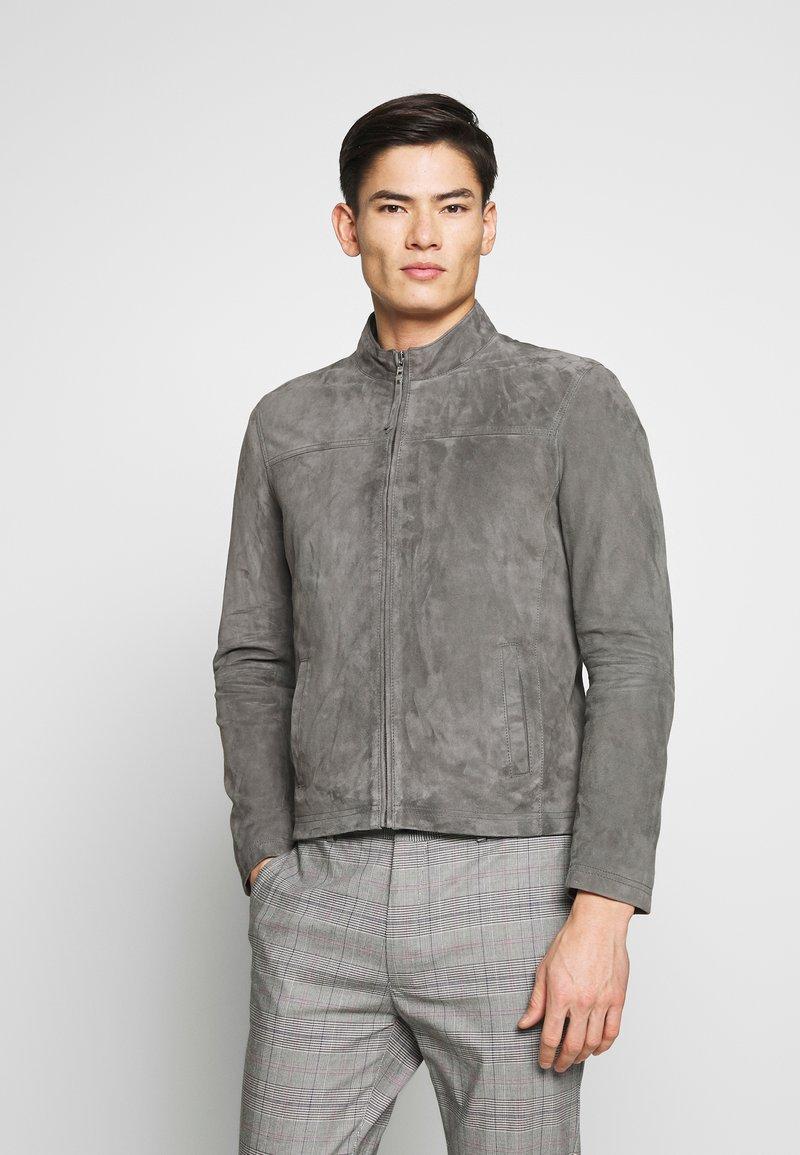 Serge Pariente - SYLVINO - Veste en cuir - grey