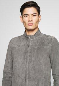 Serge Pariente - SYLVINO - Veste en cuir - grey - 3