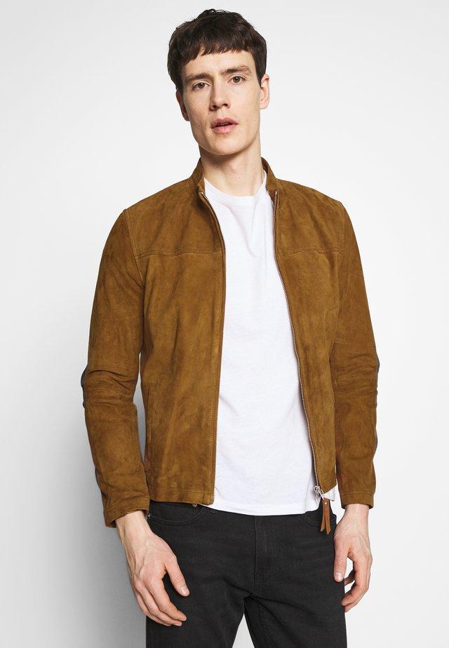 SYLVINO - Leather jacket - cognac