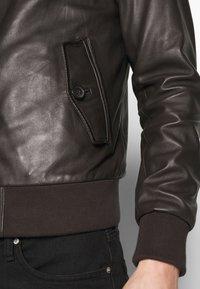Serge Pariente - HANK - Kožená bunda - brown - 5
