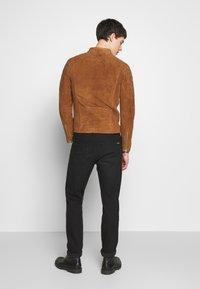Serge Pariente - GLADATOR SUEDE - Leather jacket - cognac - 2
