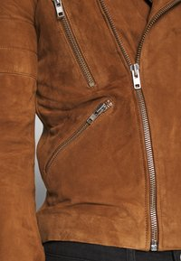Serge Pariente - GLADATOR SUEDE - Leather jacket - cognac - 5