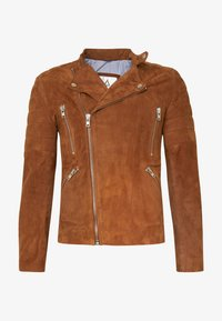 Serge Pariente - GLADATOR SUEDE - Leather jacket - cognac - 4