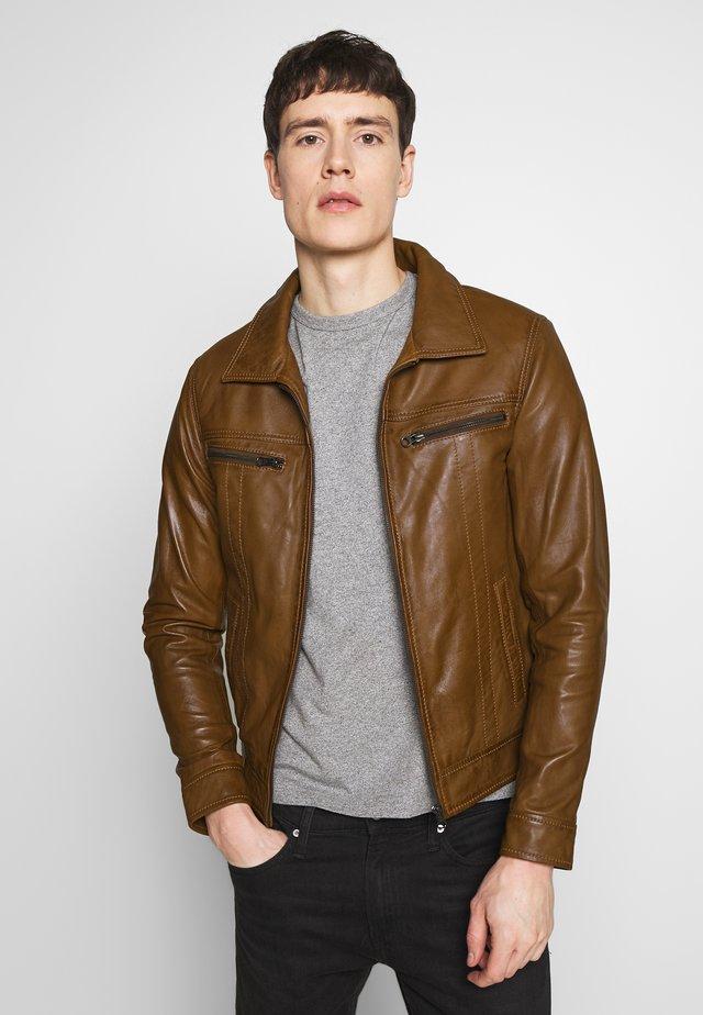 ZED - Leather jacket - oxblood